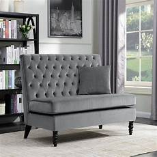 shop belleze modern button tufted style settee bedroom