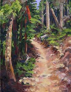 the trail series ponderosa pine painting by frederick