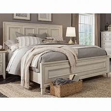 weathered white king size bed raelynn rc willey