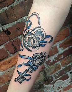 Skeleton Key And Lock Designs 38 Inspiring Lock And Key Tattoos Designbump