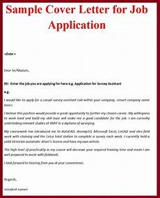 Cover Letter Sample For Applying Job Sample Cover Letter Format For Job Application