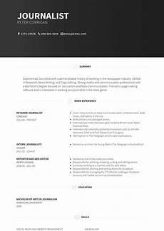 Journalism Cv Example Journalist Resume Samples And Templates Visualcv