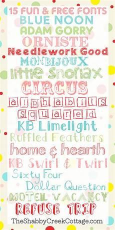 Fun Fonts Fifteen Free Fun Fonts The Shabby Creek Cottage
