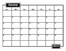 Calender Form Large Printable 2010 Calendar Freeology