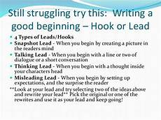 Good Leads Writing And Revising Your Lead