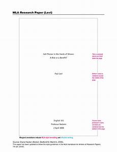 Research Paper Title Page Mla Mla Format Template Cyberuse