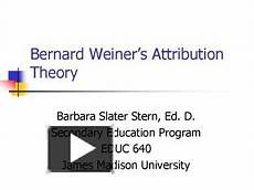 Attribution Theory Chart Ppt Bernard Weiners Attribution Theory Powerpoint