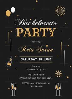 Party Invitation Card Template Bachelorette Party Invitation Card Design Template In Word