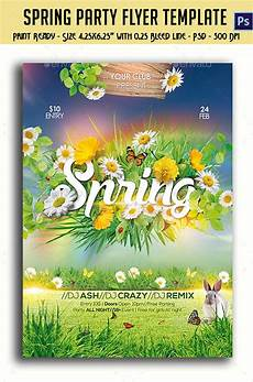 Spring Event Flyer Template Graphicriver Spring Party Flyer 10761333