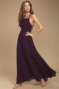 purple dress lace up dress backless dress maxi dress