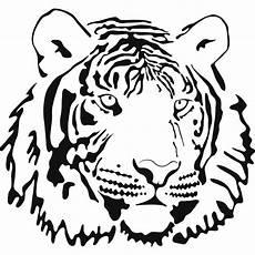 Simple Tiger Outline Tiger Outline Drawing Clipart Best