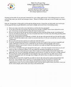 Sample College Application Essays Free 6 Sample College Application Essay Templates In Ms