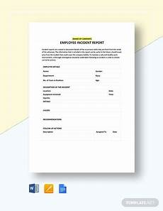 Odjfs Incident Report Free 16 Employee Incident Report Templates In Pdf Ms