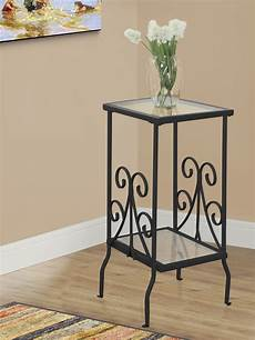 metal accent table black metal and tempered glass accent table 3159 monarch