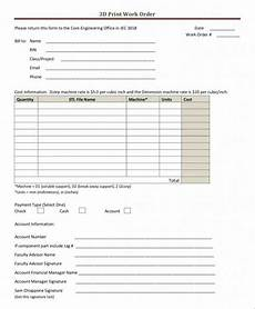 Housekeeping Work Order Format 39 Work Order Templates Download Pdf Work Order Format