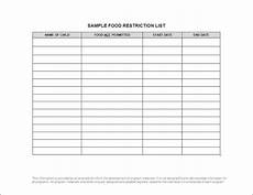 Allergy Chart For Child Care Infant Room Allergy Lists Day Nurseries Act For Child
