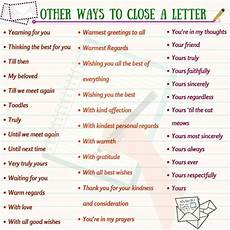 End Of Letter Closings How To End A Letter In English Esl Buzz