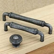 3 75 quot 5 quot antique silver black cabinet door knobs pull