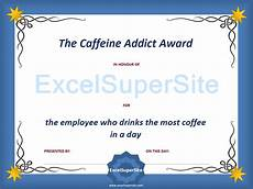 Funny Employee Award Certificates Funny Employee Award Certificates Excelsupersite