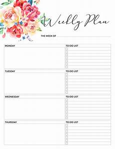 Daily Printable Planner Free Printable 2018 Planner 50 Plus Printable Pages The