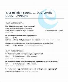 Template For Questionnaire On Microsoft Word 18 Questionnaire Templates In Word Format Free
