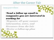Follow Up Email After Job Fair How To Prepare For The Career Fair