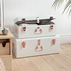 beautify chest storage trunks set of 2 gold