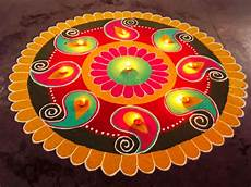 Designer Diyas Rangoli Images For Diwali 2018 Beautiful Rangoli Designs