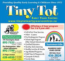 Daycare Ad Tiny Tot Child Care Centre Daycare Charlottetown Pe