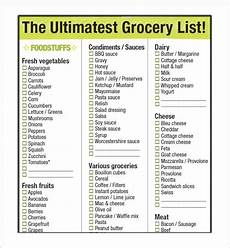 Grocey List Sample Grocery List Template 9 Free Documents In Word