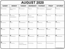 August 2020 Calendar With Holidays August 2020 Calendar With Holidays