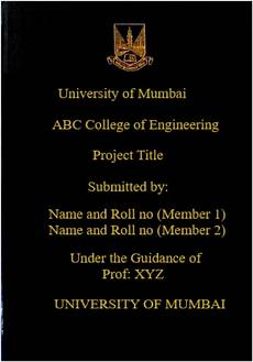 Black Cover Page How Many Pages Should A Black Book Project Report Have