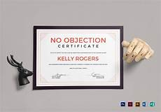 No Noc No Objection Certificate Design Template In Psd Word