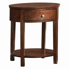 oval accent table lucas living room oval accent end table with lower shelf