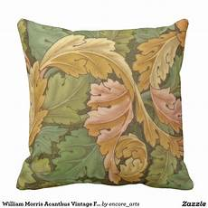 william morris acanthus vintage floral throw pillow