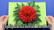 pop up card template flowers flower pop up card tutorial part 1 of 3