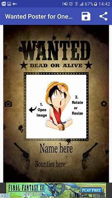 Wanted Poster Maker Pirate Wanted Poster Maker For One Piece Fan For Android