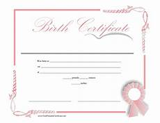 Birth Certificate Free Printable 15 Birth Certificate Templates Word Amp Pdf Template Lab