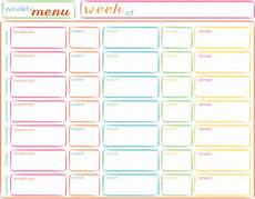 Free Weekly Menu Templates Meals For The Week Planning Ahead M Is For Monster