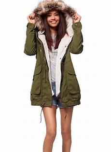 thick fleece warm faux fur coat zip hooded parka