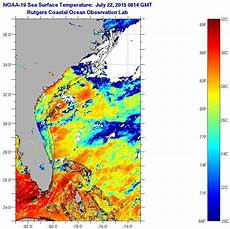 Sst Charts Rutgers Florida Current Sea Surface Temperatures Wednesday July