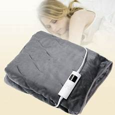 electric heated throw blanket washable soft fleece w