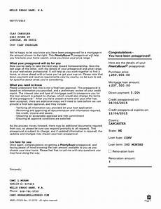 Pre Approval Letter Sample Pre Approval Mortgage Letter Templates At