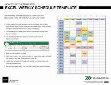 Make A Schedule In Excel Excel Weekly Schedule Template Digital Learning Commons