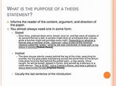 Purpose Of Thesis Statement In An Essay What A Thesis Statement Is And What It Isn T
