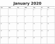2020 Blank Calendar Pdf Create Your January 2020 Calendar Printable Editable