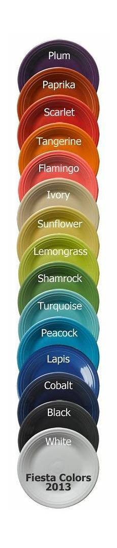Fiesta Dishes Color Chart 1000 Images About Fiesta On Pinterest Fiesta Ware