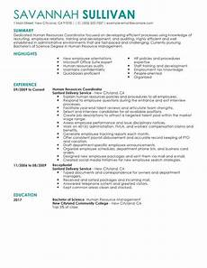 Human Resource Resume Objective Best Hr Coordinator Resume Example Livecareer
