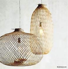 Modern Boho Pendant Lighting Lumina Bamboo Handwoven Pendant Lamps Round Amp Oblong