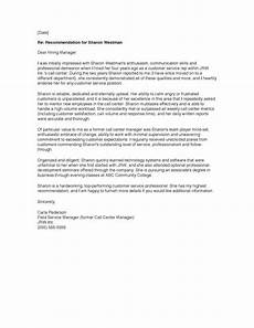 Information To Give Someone Writing A Recommendation Letter Sample Of A Recommendation Letter Formal Business Letter